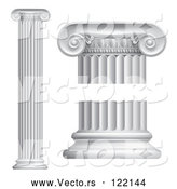 Vector of 3d Greek or Roman Columns by AtStockIllustration