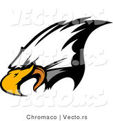 Vector of a Bald Eagle Screeching by Chromaco