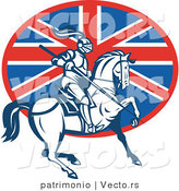 Vector of a British Knight on Horseback with a Lance by Patrimonio