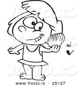 Royalty free stock vector designs of tunes for Listening coloring pages
