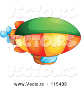 Vector of a Colorful Blimp by Graphics RF