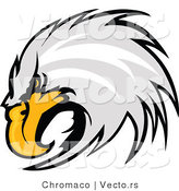Vector of a Competitive Bald Eagle by Chromaco