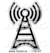 Vector of a Grayscale Cellular Tower by Lal Perera