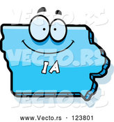 Vector of a Happy Cartoon Blue Iowa State Character by Cory Thoman