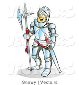 Vector of a Happy Knight Smiling by Snowy