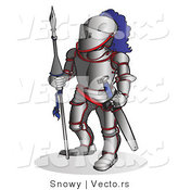 Vector of a Knight Armed with a Spear and Sword by Snowy