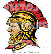 Vector of a Roman Centurion Warrior Wearing Spartan Helmet by Chromaco