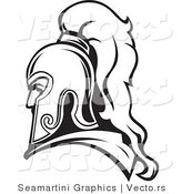 Vector of a Roman Soldier Line Drawing Avatar by Vector Tradition SM
