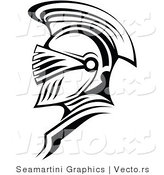 Vector of a Roman Soldier Outline by Vector Tradition SM