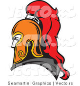 Vector of a Roman Soldier Profile Avatar by Vector Tradition SM