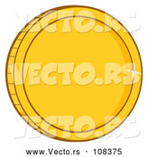 Vector of a Shiny Gold Coin by Hit Toon
