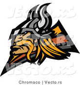 Vector of a Viking Warrior Mascot Design by Chromaco
