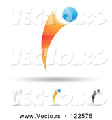 Vector of Abstract Letter I Icons with Shadows 9 by Cidepix
