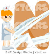 Vector of Alphabet Letter N with a Nurse Girl by BNP Design Studio