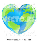 Vector of an Earth Love Heart by AtStockIllustration