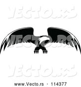 Vector of Bald Eagle Flying - Black and White by Vector Tradition SM