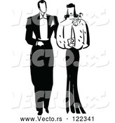 Vector of Black and White Young Adult Couple Dating by Prawny Vintage