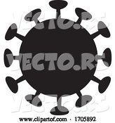 Vector of Black Silhouetted Coronavirus by Any Vector