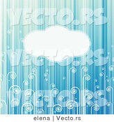 Vector of Blank Copyspace Background with Turquoise Stripes and Swirls by Elena