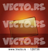 Vector of Blank Transparent Glass Plaque on an Orange Background by Elaineitalia