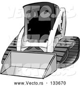 Vector of Bobcat Skid Steer Loader by Djart