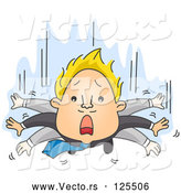 Vector of Business Man Flapping His Arms While He Falls by BNP Design Studio