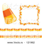 Vector of Candy Corn Halloween Frame and Border Design Elements by Amanda Kate