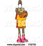 Vector of Cartoon Basketball Player Wearing a Mask by Djart
