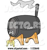 Vector of Cartoon Bbq Smoker Grill with a Faucet by LaffToon