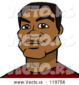 Vector of Cartoon Black Guy Avatar by Cartoon Solutions