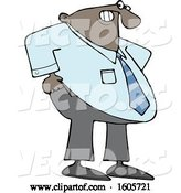 Vector of Cartoon Chubby Black Businessman Pulling up His Pants by Djart