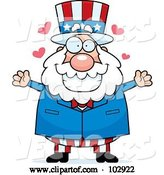 Vector of Cartoon Chubby Uncle Sam with Hearts by Cory Thoman