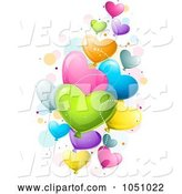 Vector of Cartoon Colorful Heart Valentine Balloons by BNP Design Studio
