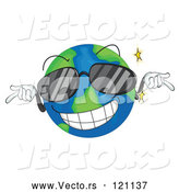 Vector of Cartoon Cool Globe Mascot Wearing Sunglasses by Graphics RF