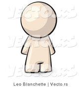 Vector of Cartoon Featureless Person Standing by Leo Blanchette