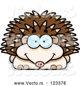 Vector of Cartoon Happy Hedgehog by Cory Thoman