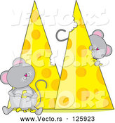 Vector of Cartoon Mice Eating Cheese by Maria Bell
