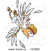 Vector of Cartoon Scene of Icarus Falling After the Wax on His Wings Melted by Toonaday