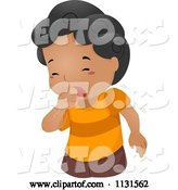 Vector of Cartoon Sick Boy Coughing by BNP Design Studio
