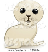 Vector of Cartoon White Seal Cub by Elaineitalia