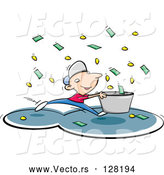 Vector of Cash While It Rains Money by Jtoons