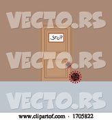 Vector of Closed Door to Virus and Stay Safe by Elaineitalia