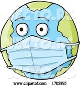 Vector of Coronavirus Covid 19 Planet Earth Wearing a Surgical Mask by Any Vector