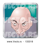 Vector of Creepy Bald Guy by AtStockIllustration