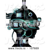 Vector of Cybernetic Head by BNP Design Studio