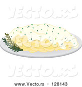 Vector of Dinner Plate of Fettuccine by Rosie Piter