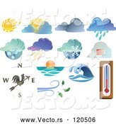 Vector of Extreme Weather Icon Series by Frisko