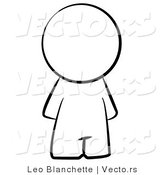 Vector of Faceless Person - Coloring Page Outlined Art by Leo Blanchette