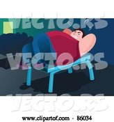 Vector of Fat Guy Doing Situps on a Bench by Mayawizard101