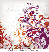 Vector of Flourish Vines on White Background Version 7 by OnFocusMedia